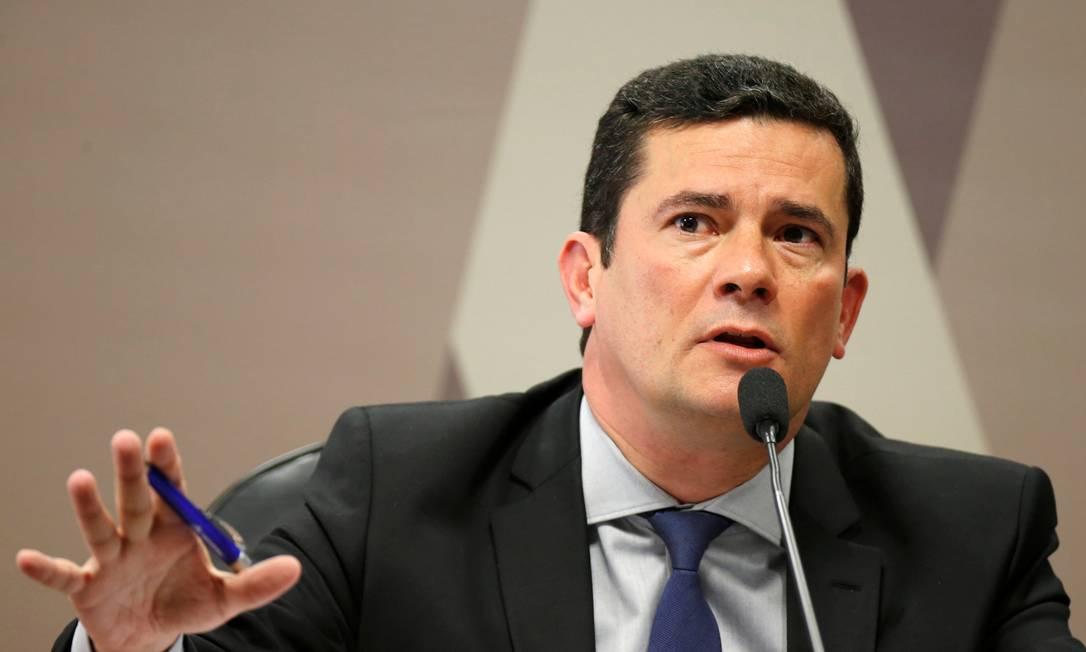 O ex-juiz e Ministro da Justiça Sergio Moro na CCJ do Senado Foto: Adriano Machado / Reuters