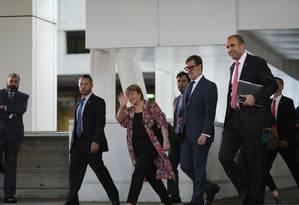 Alta comissária da ONU para Direitos Humanos, Bachelet chega ao Aeroporto Simon Bolivar, nos arredores de Caracas Foto: STRINGER / REUTERS