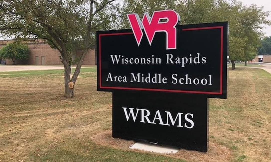 Fachada de escola em Wisconsin Rapids Foto: Facebook / Reprodução