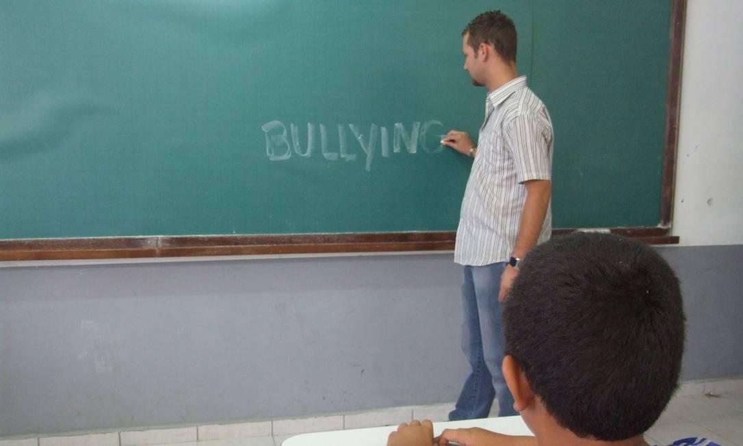 Segundo a Talis, 28% dos diretores das escolas brasileiras no ensino fundamental apontaram o bullying como um problema Foto: O GLOBO / Márcia Campos