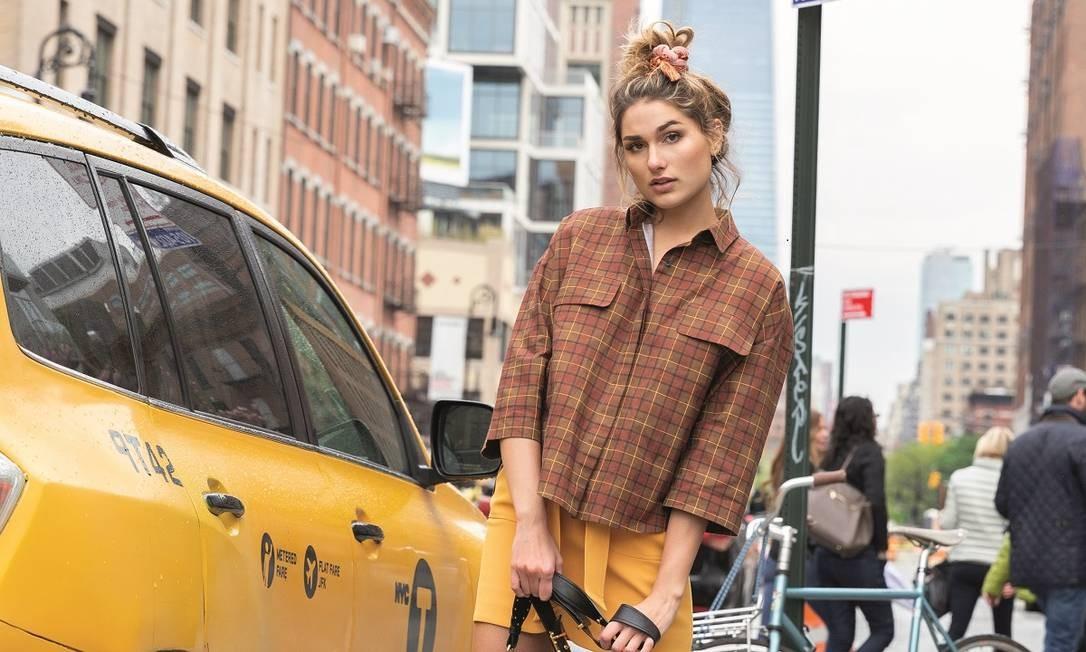 Sasha Meneghel posa em Nova York Foto: Gabriel Munhoz e Bruna Moreira