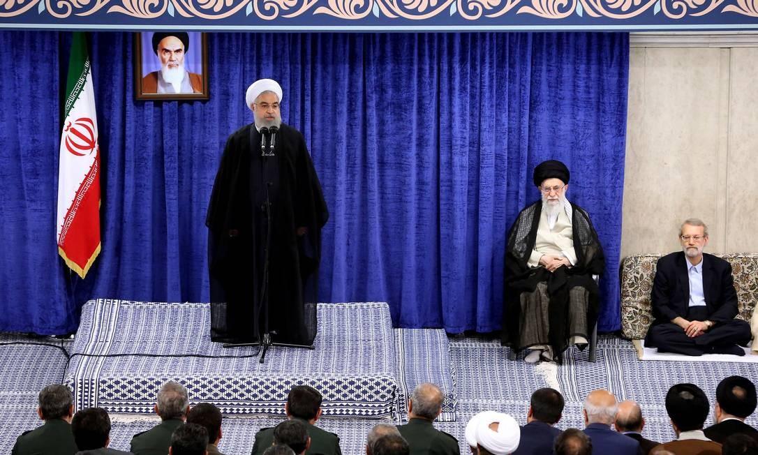 Em nova capítulo da escalada de tensões, Irã anuncia a derrubada de drone americano; na foto, o aiátola Ali Khamenei Foto: AFP