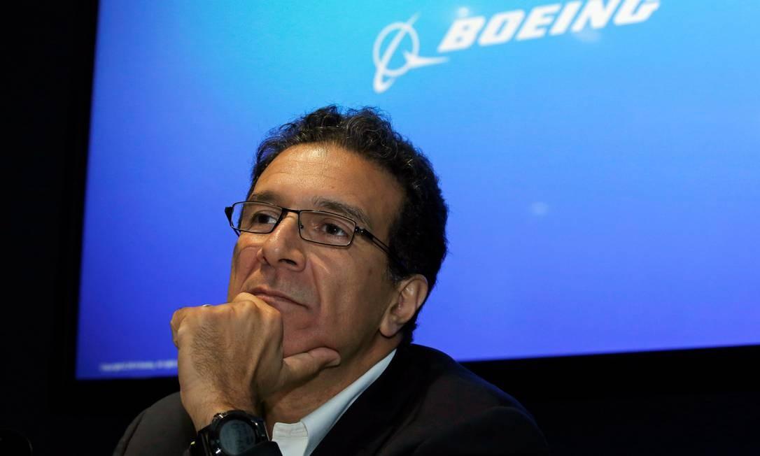Ihssane Mounir, vice-presidente de vendas e marketing da Boeing, no Paris Air Show , disse que a devolução do 737 MAX ao serviço era sua principal prioridade após dois acidentes fatais. Foto: PASCAL ROSSIGNOL/REUTERS