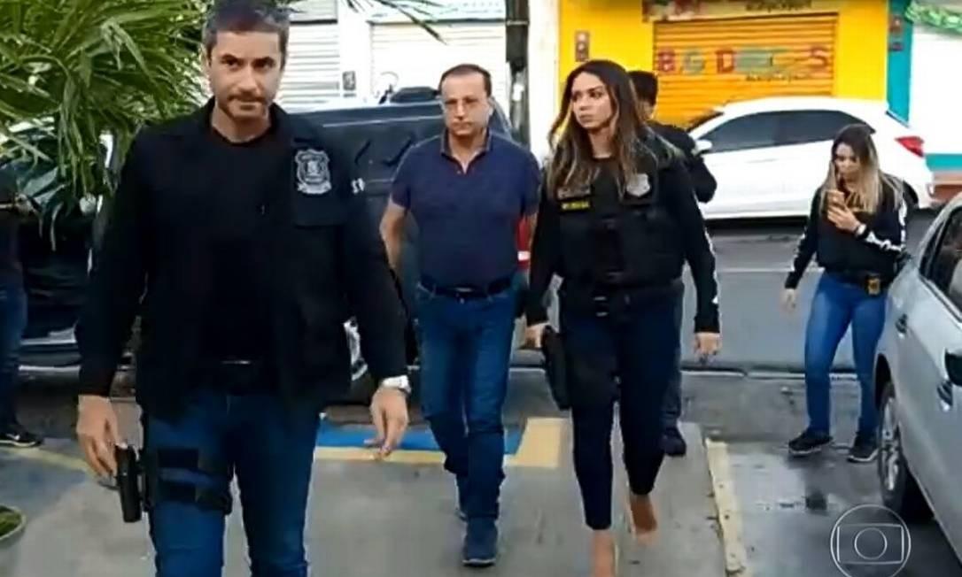Prefeito de Camaribe (PE), Demóstenes Meira (PTB) foi preso nesta quinta-feira Foto: Reprodução / TV Globo