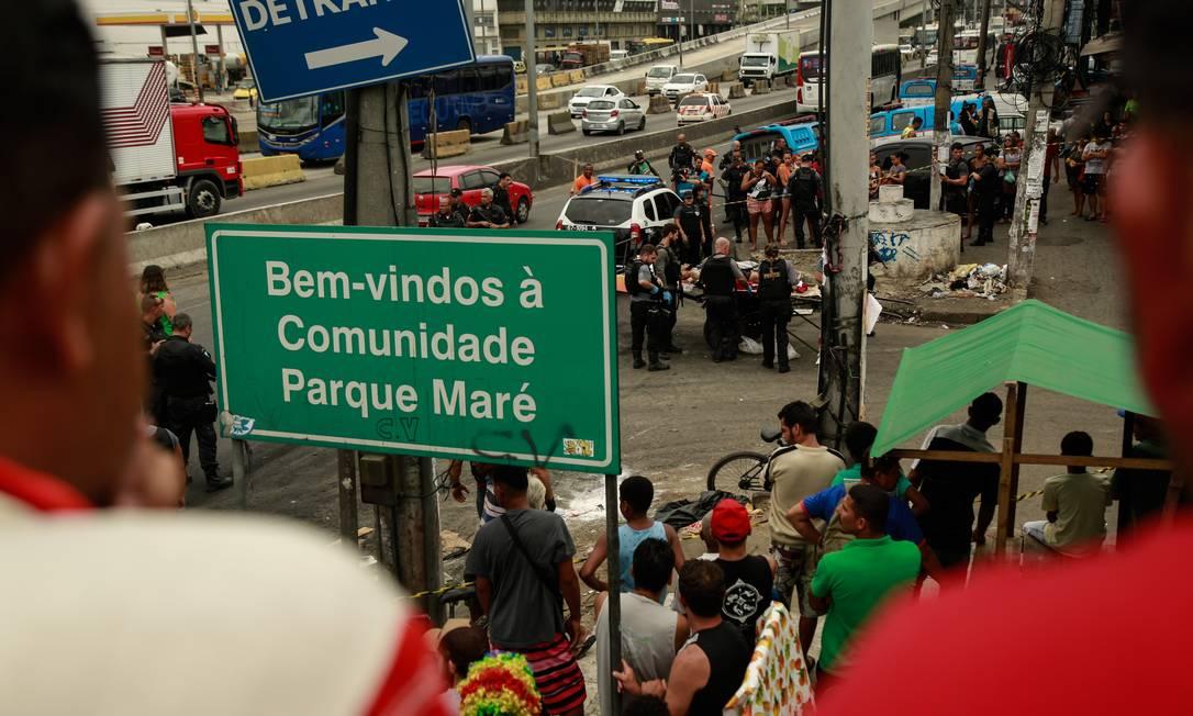 Operação na Maré deixou uma mulher morta. Arquivo: 06/11/2018 Foto: Brenno Carvalho / Agência O Globo