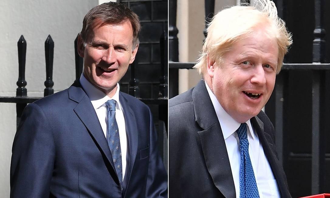 Jeremy Hunt e Boris Johnson disputam a liderança do Partido Conservador; resultado será divulgado em julho Foto: STF / AFP