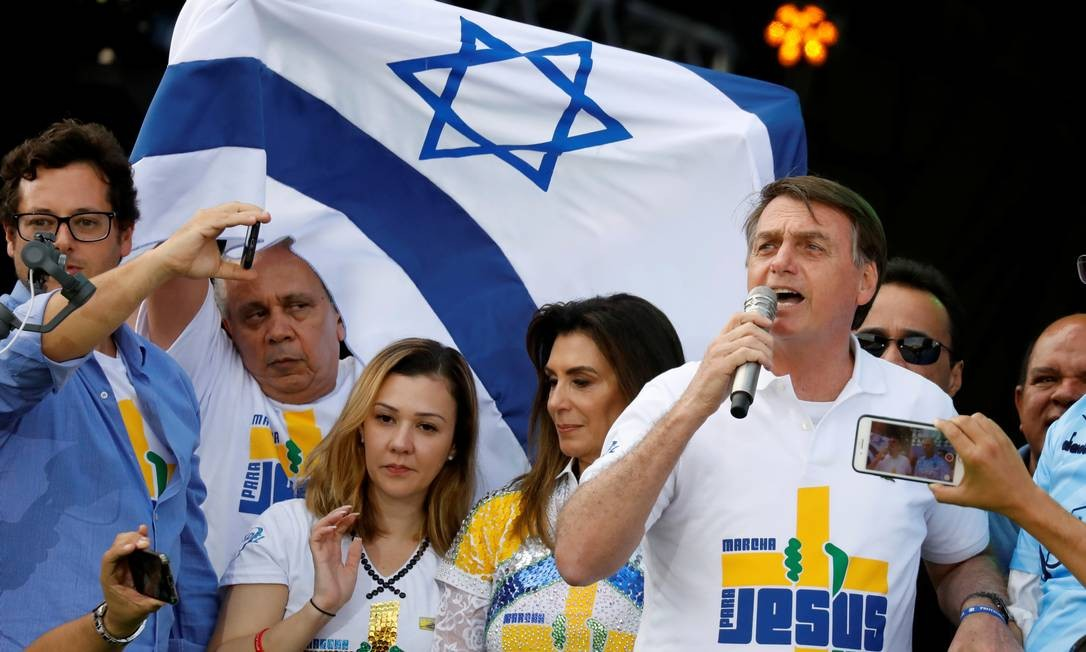 Bolsonaro na Marcha para Jesus, em São Paulo Foto: NACHO DOCE / REUTERS