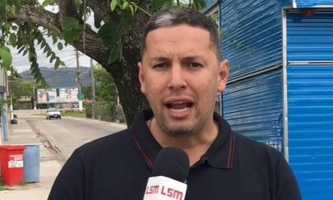 O jornalista fundador do site Lei Seca Maricá, Romário da Silva Barros reprodução Foto: Reprodução