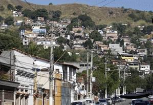 Zona de conflito. O Morro do Boa Vista, marcado por tiroteios: moradores relatam medo e alertam para confrontos Foto: Fábio Guimarães / Fábio Guimarães