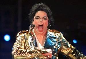 Michael Jackson durnate show no estádio do Dínamo, em Moscou, em setembro de 1996 Foto: Alexander Natruskin / Reuters