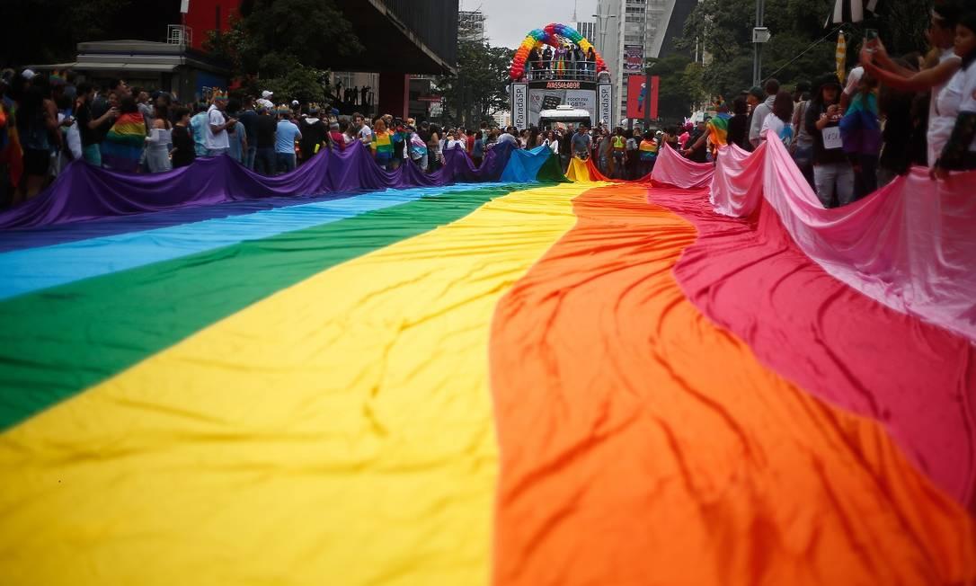 Parada LGTBI na avenida paulista em 2018 Foto: Marcos Alves / Agência O Globo