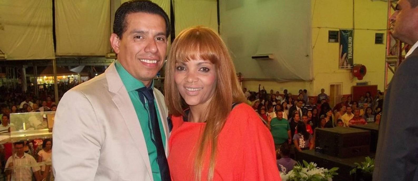 Na foto: Deputada federal Flordelis e o pastor Anderson do Carmo Foto: Reprodução