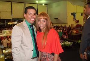 Deputada federal Flordelis e o pastor Anderson do Carmo, assassinado no último domingo Foto: Reprodução