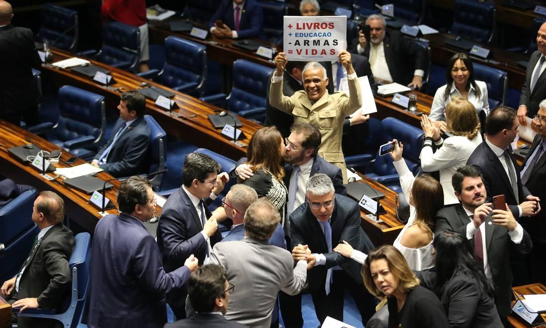 Senado suspende decreto das armas do presidente Jair Bolsonaro 18/06/2019 Foto: Jorge William / Agência O Globo