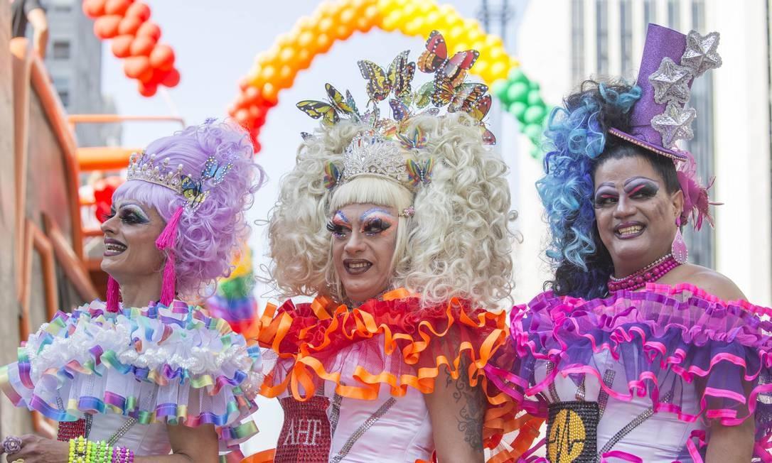 SO São Paulo ( SP ) 23/06/2019 - 23 Parada do Orgulho GLBT - O tema deste ano é - 50 anos de Stonewall . Ele foi um marco importante na luta pelos direitos e visibilidade da comunidade LGBTI+ no mundo. E que em 2019 fará 50 anos de existência. Foto: Edilson Dantas / Agencia O Globo Foto: Edilson Dantas / Agência O Globo