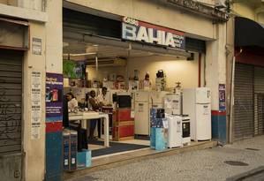 Loja das Casas Bahia no Centro do Rio. Foto: Gabriel Monteiro / Agência O Globo
