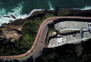 A vista do Vip's junto à pista da Niemeyer: atividades encerradas Foto: Custódio Coimbra / Agência O Globo