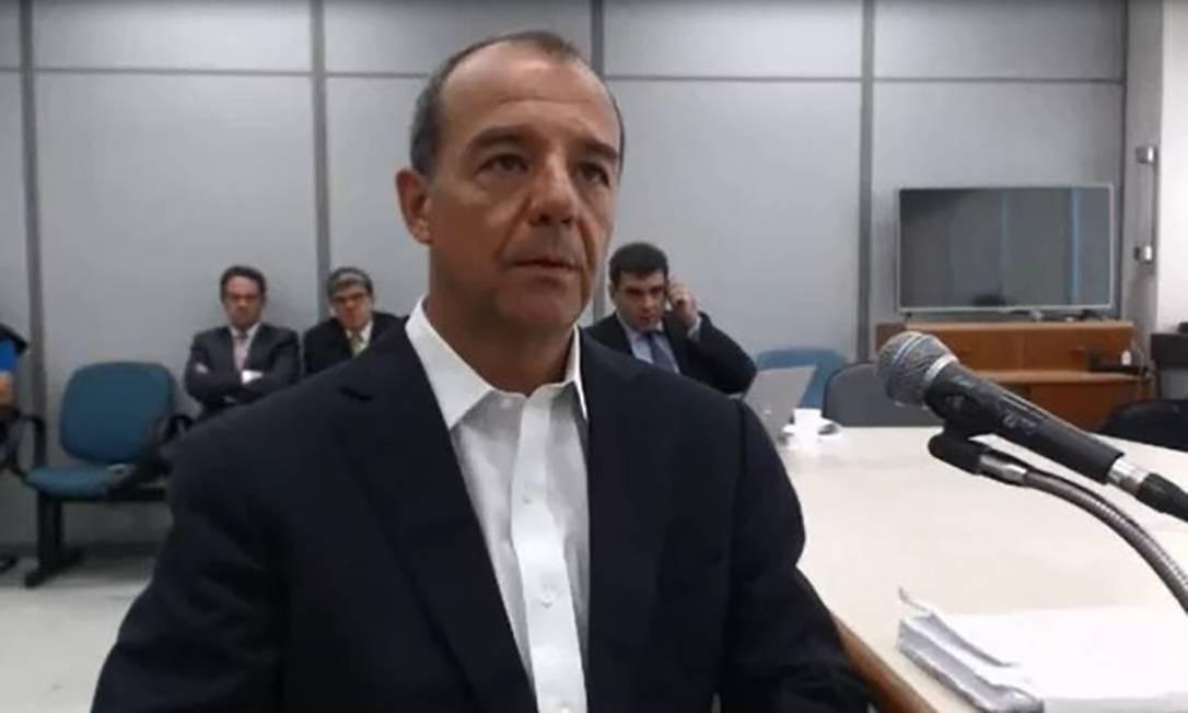 Depoimento de Sérgio Cabral na Lava-Jato. Foto: Reprodução Foto: Reprodução