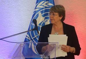 Alta Comissária da ONU, Michelle Bachelet, faz apelo para que 55 mil membros do Estado Islâmico sejam soltos ou submetidos a julgamentos imparciais Foto: CRISTIAN HERNANDEZ / AFP