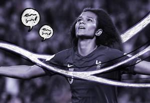 Wendie Renard é uma das melhores jogadoras da seleção francesa atualmente Foto: Arte de Ana Luiza Costa sobre foto de divulgação