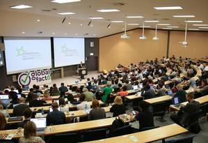 Plenário do Global Fact 6, na Universidade de Cape Town Foto: Uğurcan Akın / IFCN