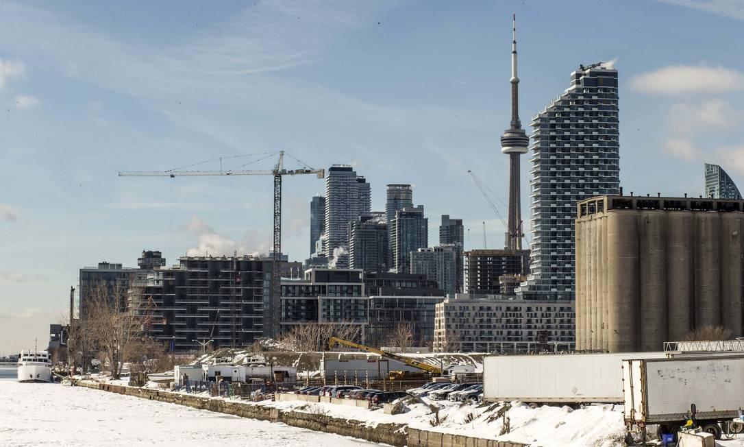 Obras da Sidewalk Labs em Toronto Foto: Andrew Francis Wallace / Toronto Star via Getty Images