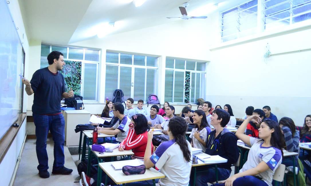 Alunos da Escola Estadual Pedro Álvares Cabral, no Rio de Janeiro Foto: Alessandra Coelho / Alessandra Coelho