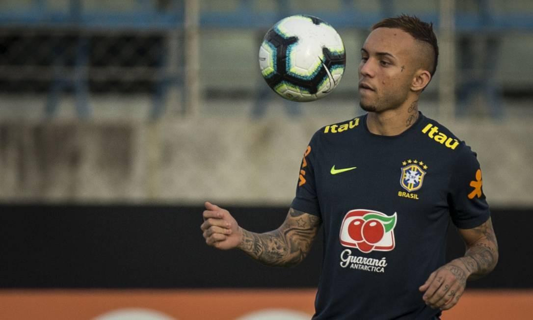 Everton virou titular do Brasil na terceira partida na Copa América Foto: Freelancer / Agência O Globo