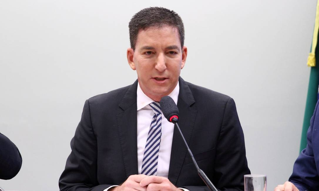 O jornalista Glenn Greenwald, editor do Intercept Brasil, na sessão da Comissão de Direitos Humanos da Câmara Foto: Vinicius Loures / Câmara dos Deputados