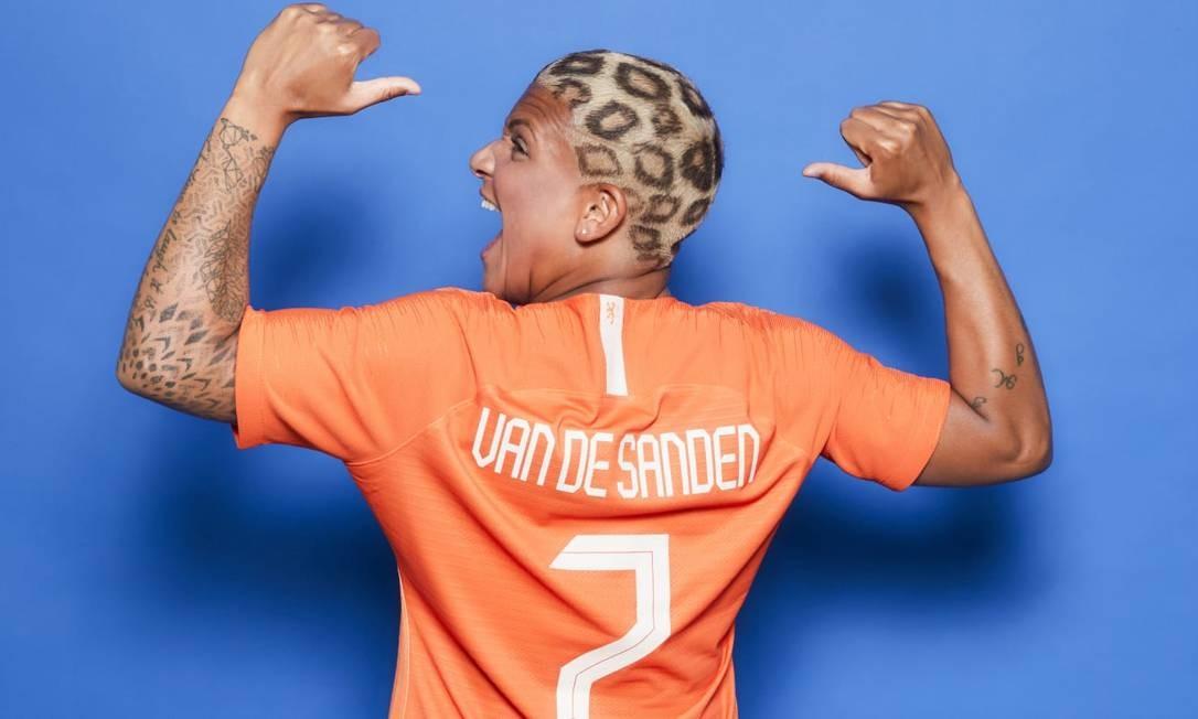 O visual de Shanice Van De Sanden é o que mais chama atenção. A atacante da Holanda tem um dos penteados mais inusitados da competição Foto: Fifa/reprodução