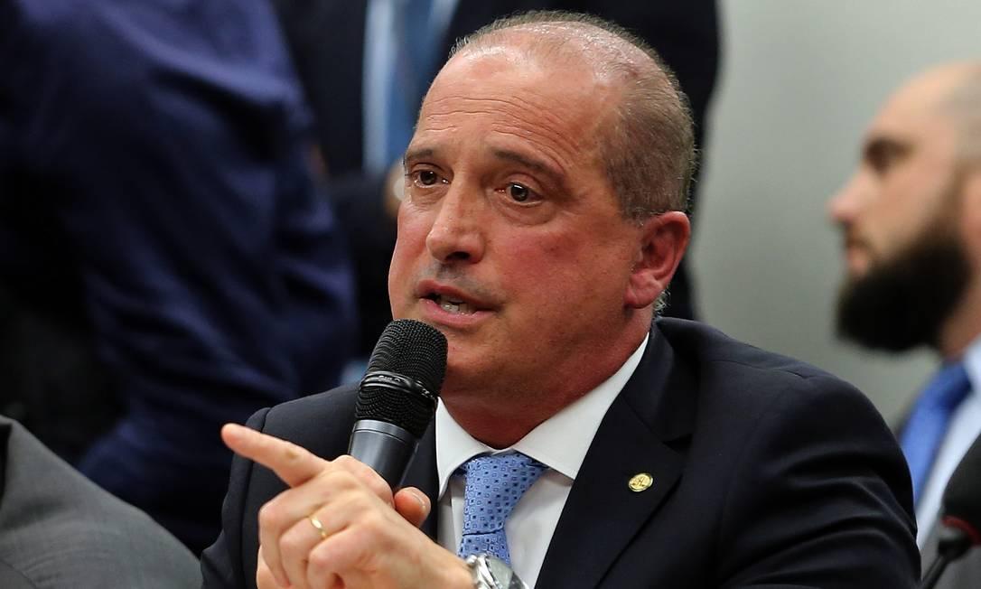 O ministro da Casa Civil, Onyx Lorenzoni, durante sessão da CCJ da Câmara Foto: Jorge William/Agência O Globo/18-06-2019