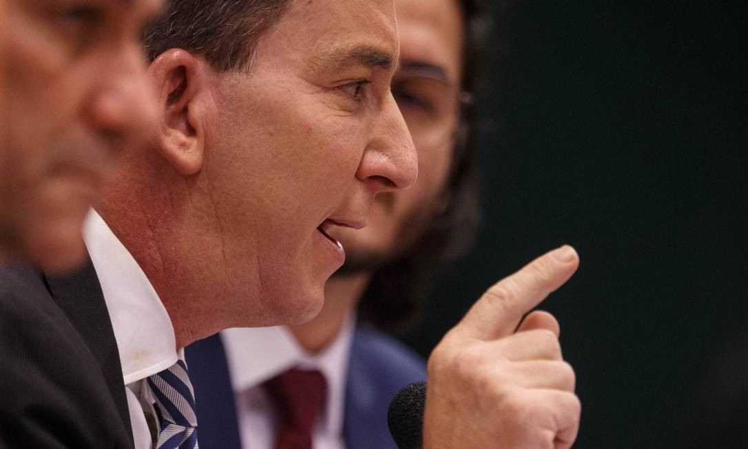 """Greenwald ressaltou que, nos Estados Unidos, """"se um juiz fizesse uma única vez lá o que Sergio Moro fez aqui durante cinco anos ele perderia o cargo e seria proibido de advogar"""" Foto: Daniel Marenco / Agência O Globo"""
