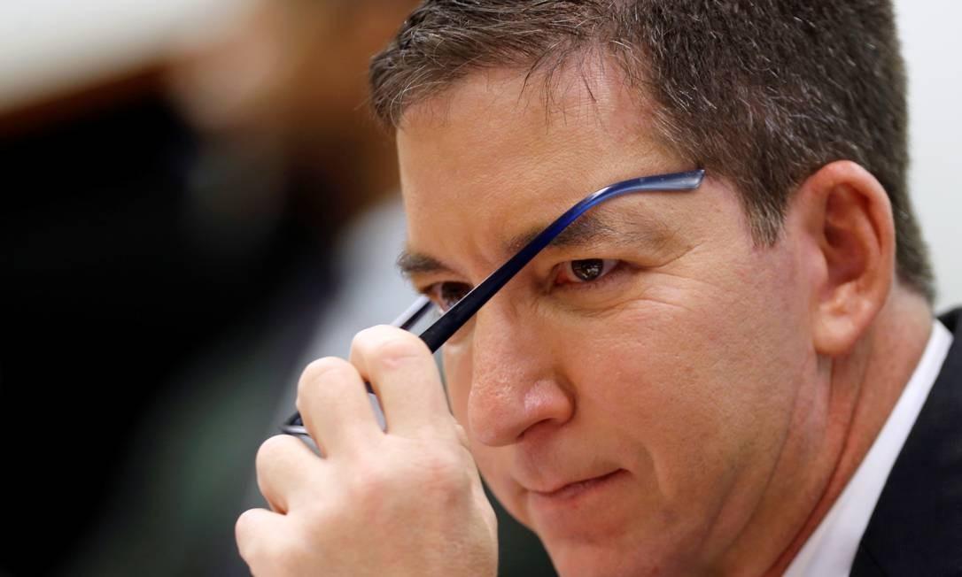 Glenn Greenwald reclamou das críticas que vêm recebendo de políticos ligados ao governo Bolsonaro. Ele se queixou da tentativa dos adversários de desqualificar o trabalho dele chamando-o, de forma pejorativa, de estrangeiro Foto: ADRIANO MACHADO / REUTERS