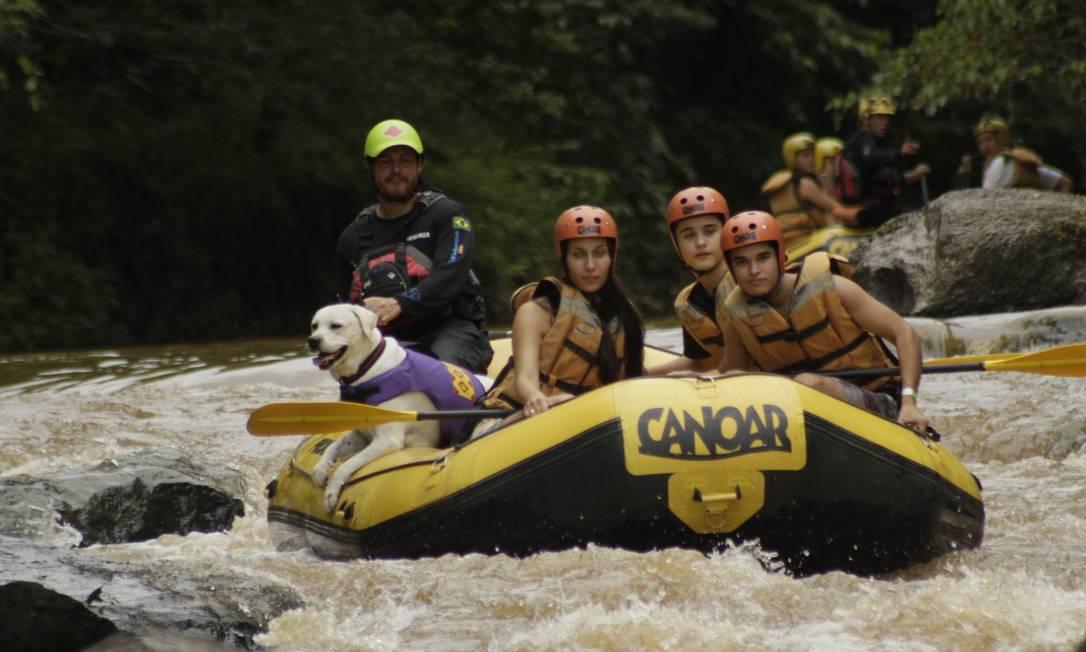 Rafting com cachorro em Socorro, SP: locais já tem atividades voltadas para os pets e seus donos Foto: Divulgação