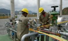 Estação de gás natural em Paracambi, no Estado do Rio Foto: William de Moura / Agência O Globo