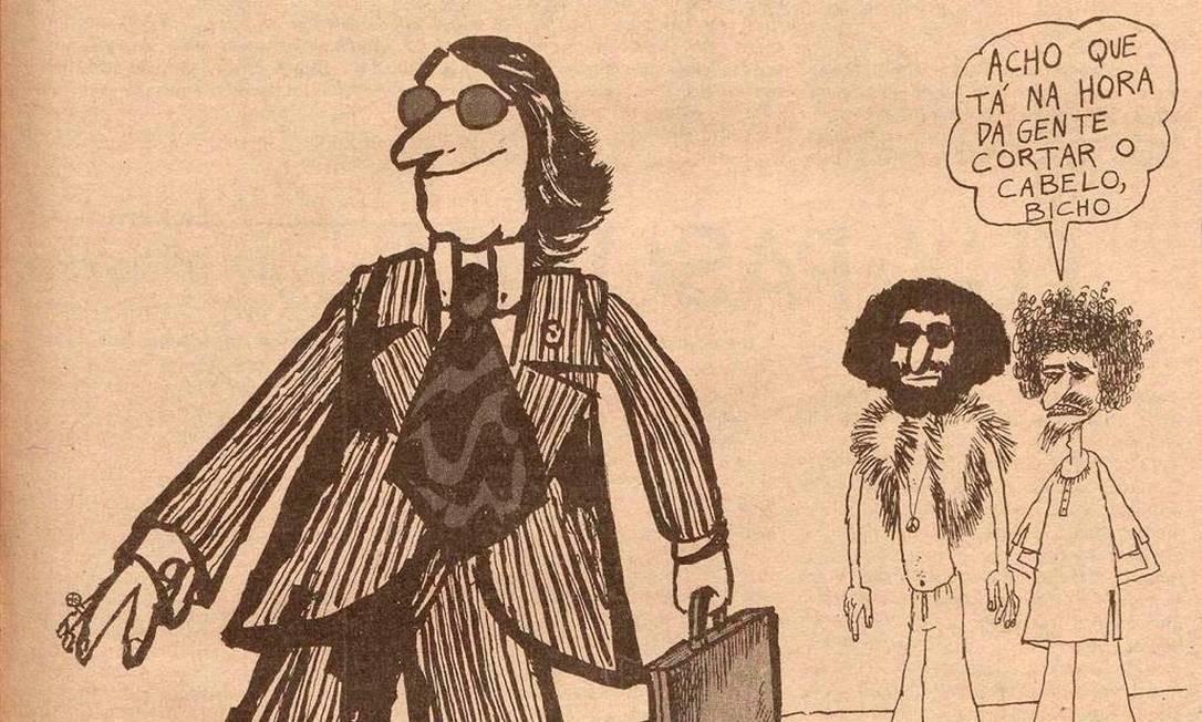 Charge do cartunista e um dos fundadores do hebdomadário Jaguar Foto: Divulgação