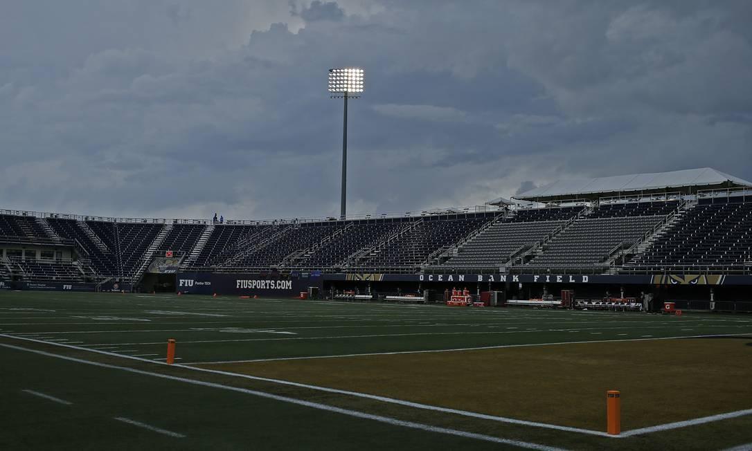 O estádio de Futebol Americano da Flórida International University também foi construído pela Odebrecht Foto: Joel Auerbach / Getty Images