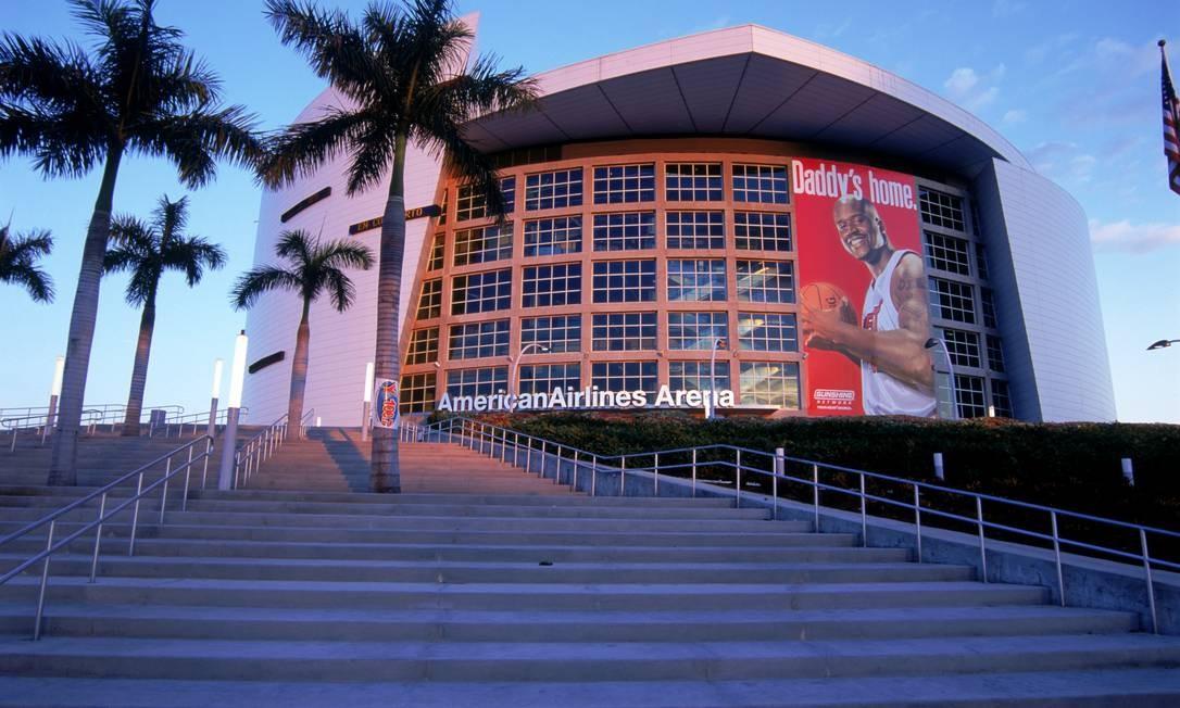 Fachada da Arena American Airlines, em Miami. A Odebrecht foi uma das empreiteiras envolvidas na construção do estádio, que custou o equivalente a US$ 320 milhões Foto: Jerry Driendl / Getty Images
