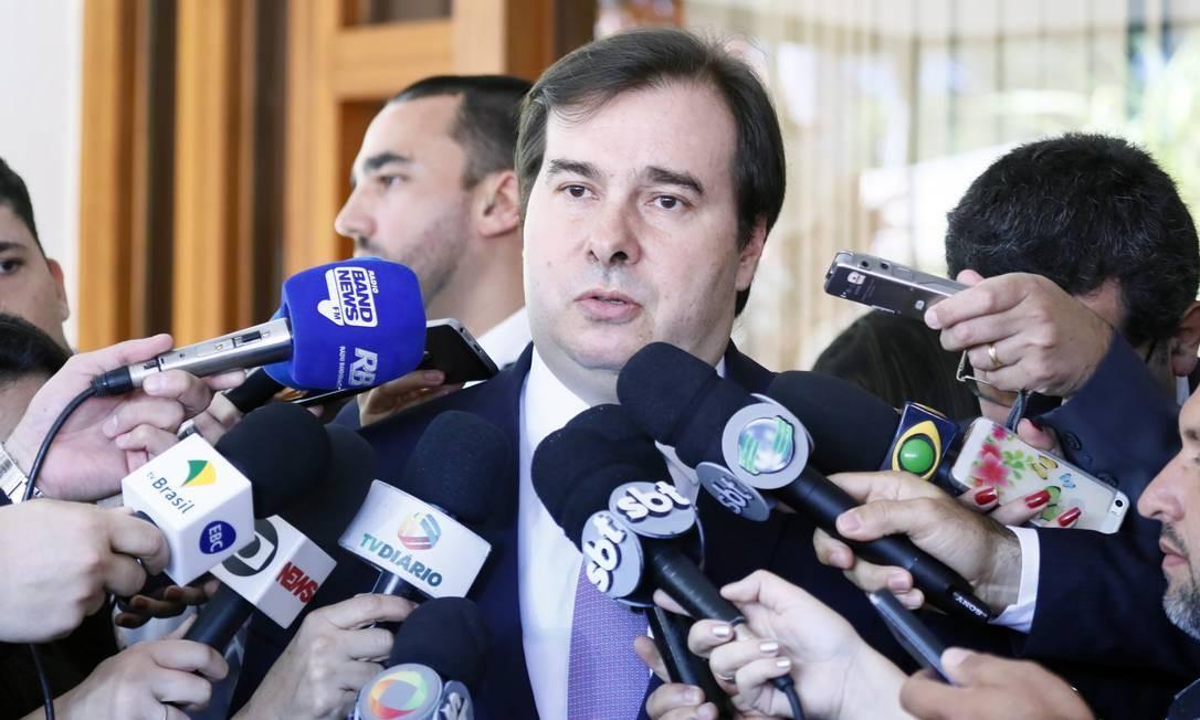 O presidente da Câmara, Rodrigo Maia, disse que voltará a conversar com os governadores Foto: Luis Macedo / Câmara dos Deputados
