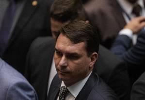 O senador Flávio Bolsonaro 05/06/2019 Foto: Daniel Marenco / Agência O Globo