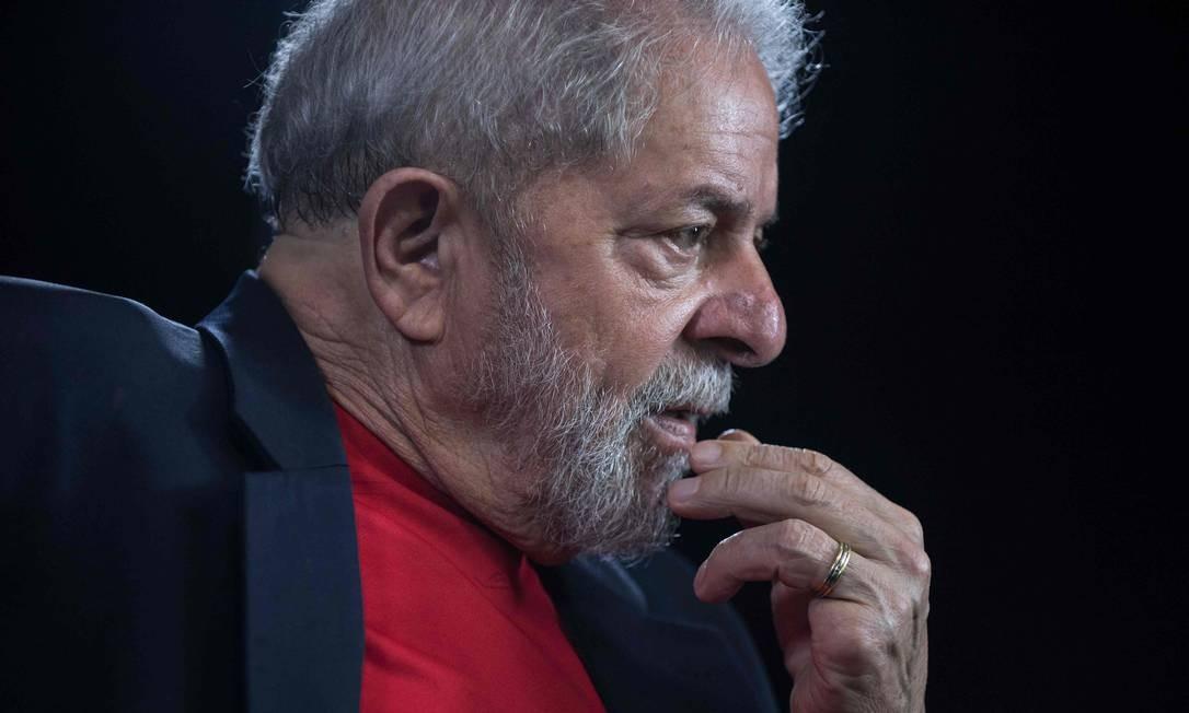 Lula foi condenado a 12 anos e 11 meses de prisão no caso do sítio de Atibaia Foto: NELSON ALMEIDA / AFP