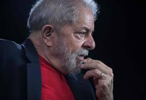 Lula foi condenado a 12 anos e 11 meses de prisão em primeira instância no caso do sítio de Atibaia Foto: NELSON ALMEIDA / AFP