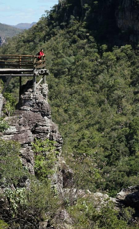 Mirante da Trilha Carrossel, a mais nova caminhada no interior do Parque Nacional da Chapada dos Veadeiros Foto: Eduardo Vessoni