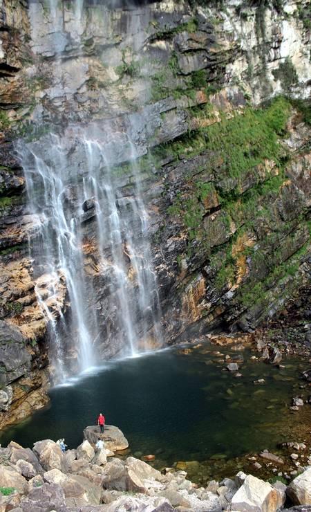 A Cachoeira do Label, em São João d'Aliança, é a mais alta da Chapada dos Veadeiros e de Goiás Foto: Eduardo Vessoni