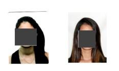 Fotos da aluna, que teve o rosto preservado, foram anexadas à ação pelo MPF Foto: Reprodução