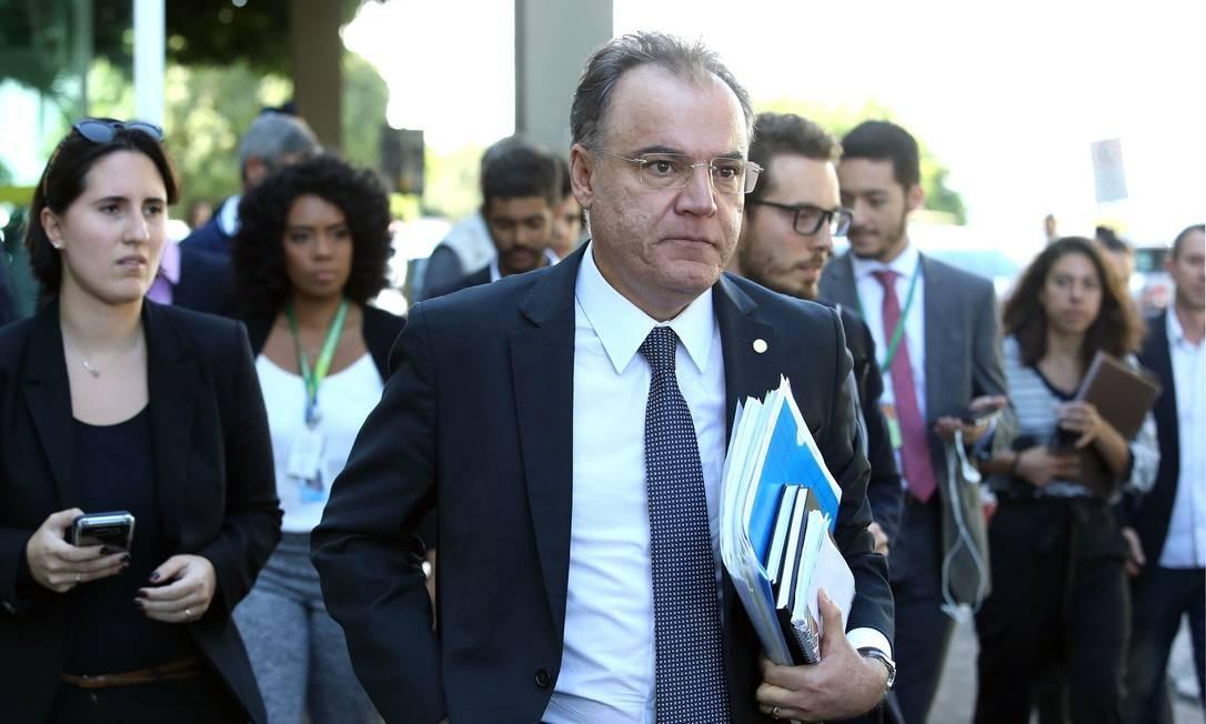 Relator da reforma da Previdência, Samuel Moreira Foto: Jorge William / Agência O Globo