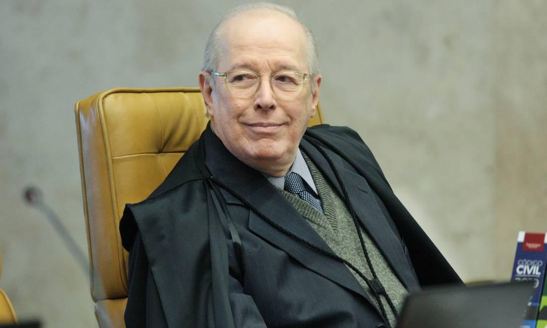 Ministro Celso de Mello durante sessão plenária do STF Foto: Divulgação/Carlos Moura