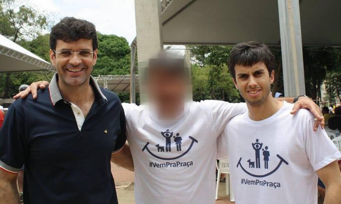 O ministro do Turismo Marcelo Álvaro Antônio e o assessor especial Mateus Von Rondon, preso nesta quinta-feira Foto: Reprodução / Redes sociais