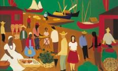 """A tela """"Mercado da Bahia"""", de 1959, de Djanira, compõe a exposição na CRM Foto: Pedro Oswaldo Cruz / Divulgação"""