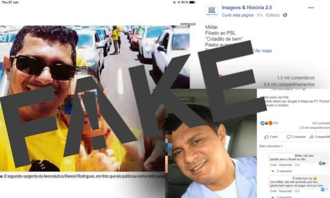 É #FAKE que sargento da FAB detido com 39 kg de cocaína é filiado a algum partido político Foto: Reprodução